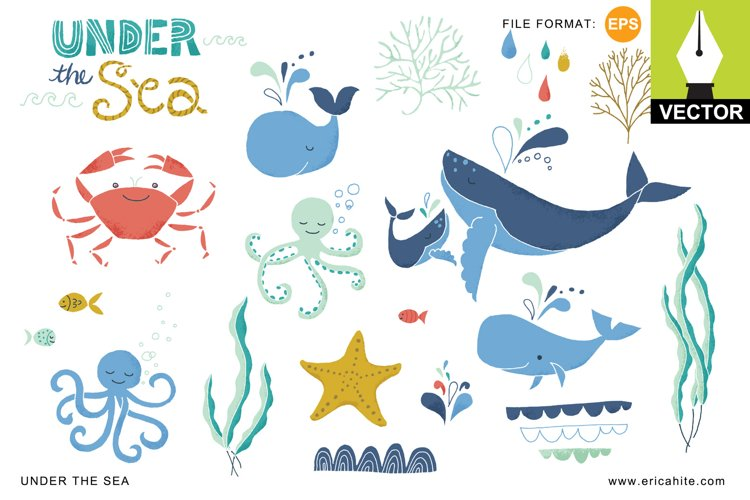 Under the Sea Vector Art EPS example image 1