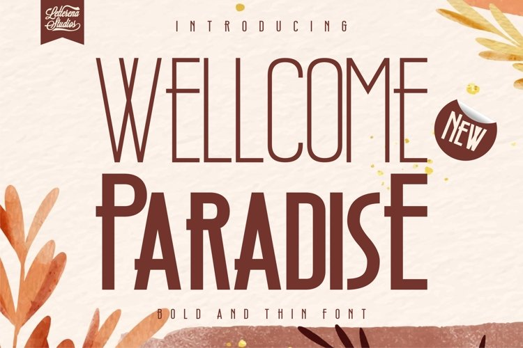 Wellcome Paradise - Modern Sans Serif Font example image 1