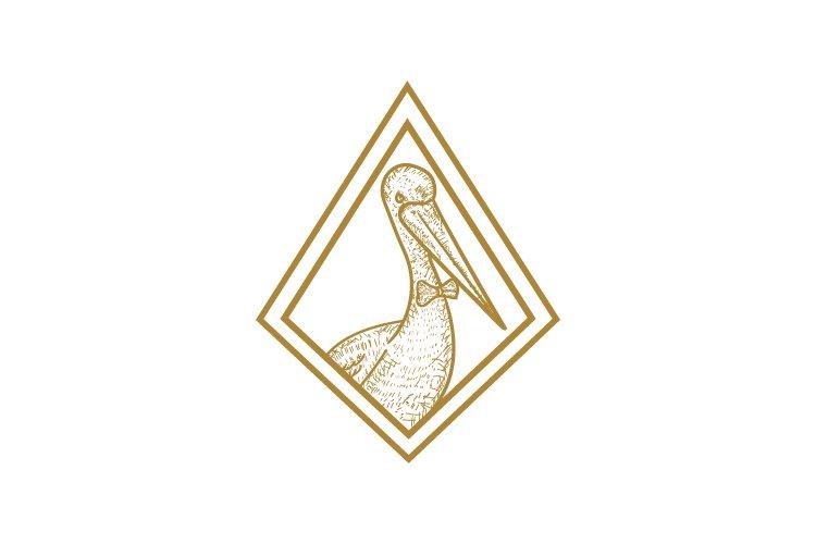 Pelican minimalist logo example image 1