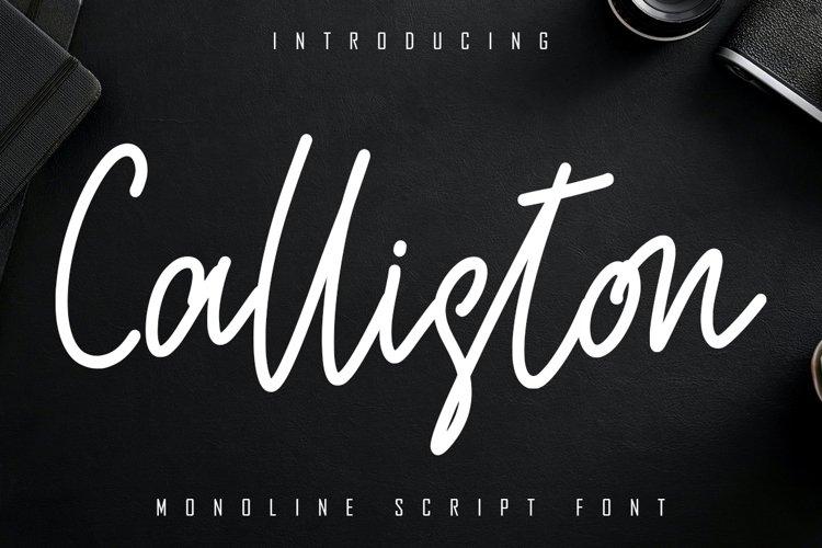 Calliston Monoline Script Font example image 1