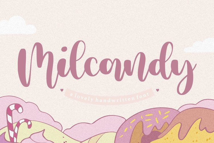 Milcandy Lovely Handwritten Font example image 1