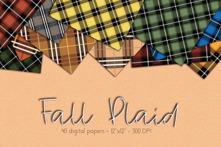Fall Plaid Digital Paper Set example image 1