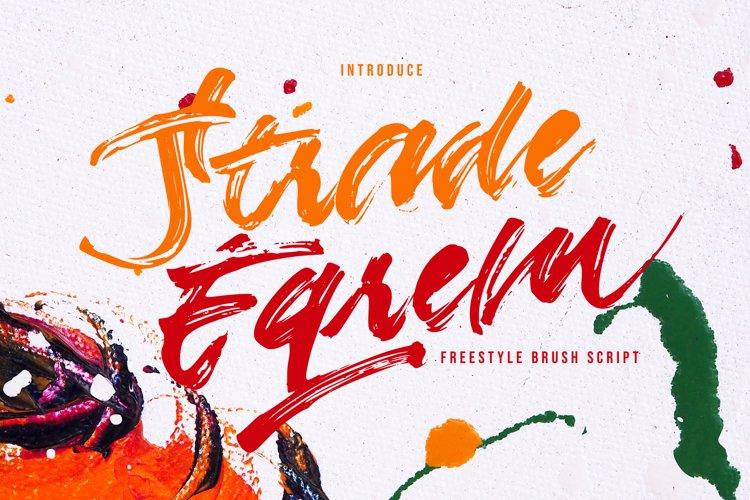 Strade Eqrem | Freehand Brush Script example image 1