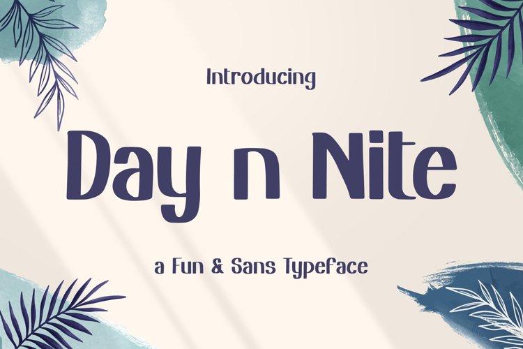 Day n Nite - Fun Sans Typeface example image 1