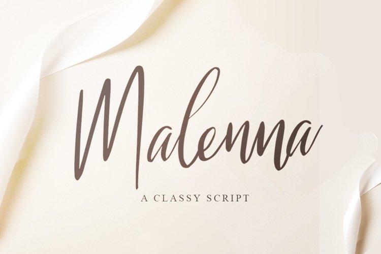 Malenna Script example image 1