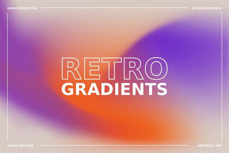 1970s Retro Gradient Backgrounds Set example image 1