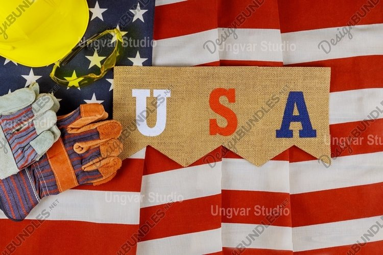 Flat lay composition with America happy labor day example image 1