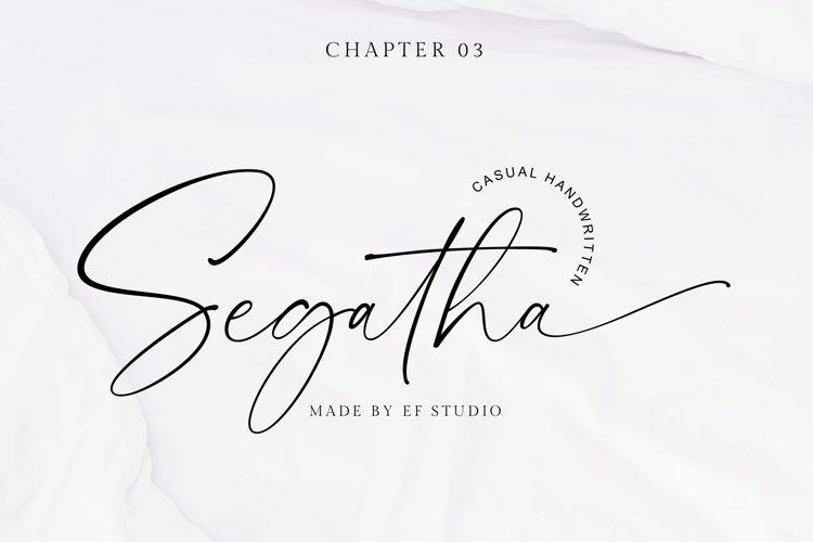 Segatha | Casual Handwritten Font example image 1