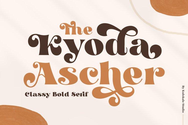 Kyoda Ascher - Classy Bold Serif example image 1