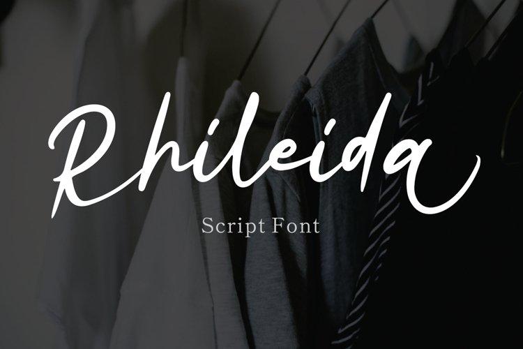 Rhileida - Script Font example image 1