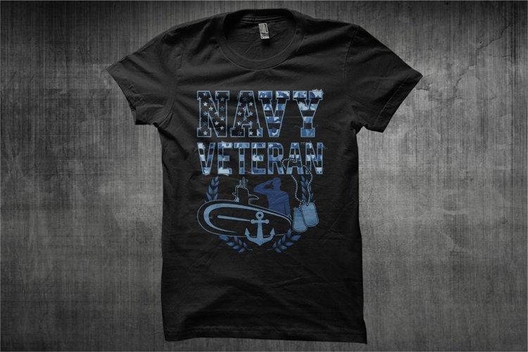 Navy Veteran Camouflage - Illustration Navy Veteran