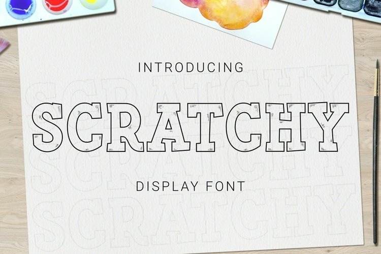 Web Font Scratchy Font example image 1