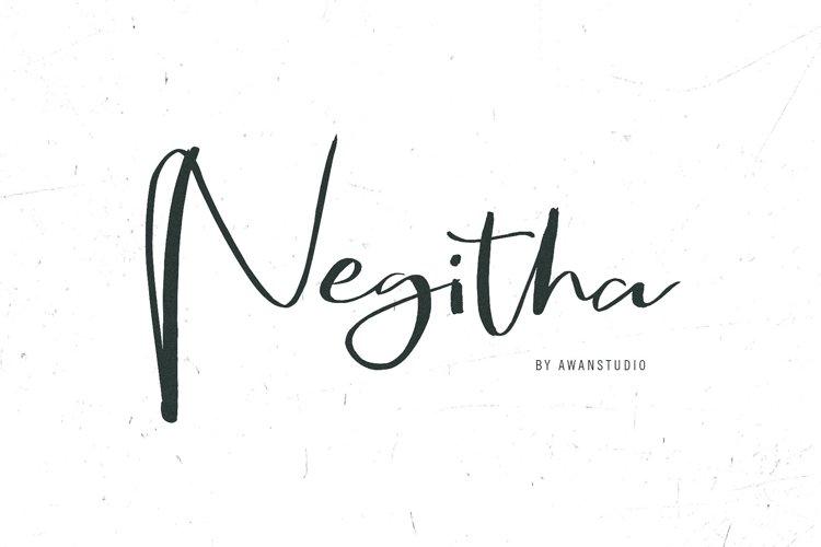 Negitha Script Font example image 1