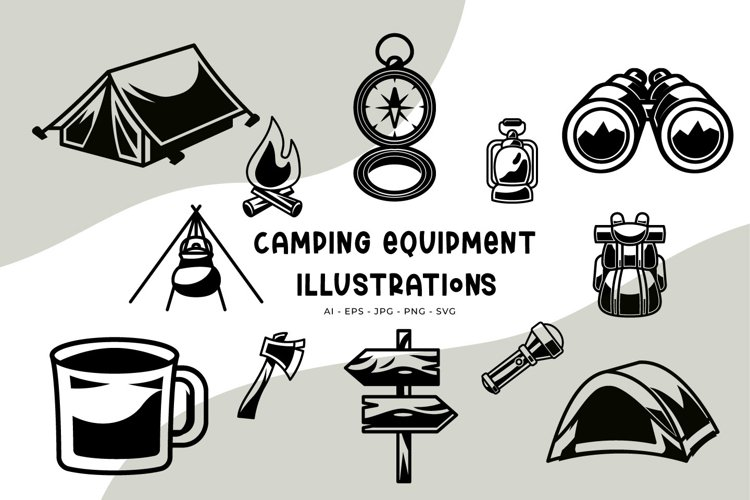 Camping Equipment illustrations example image 1