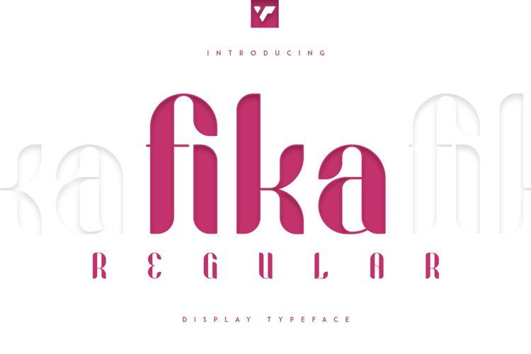 Fika Regular example image 1
