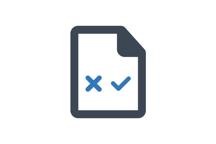 Document correction icon