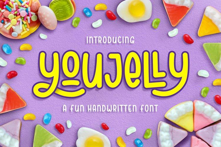 Youjelly - A Fun Handwritten Font