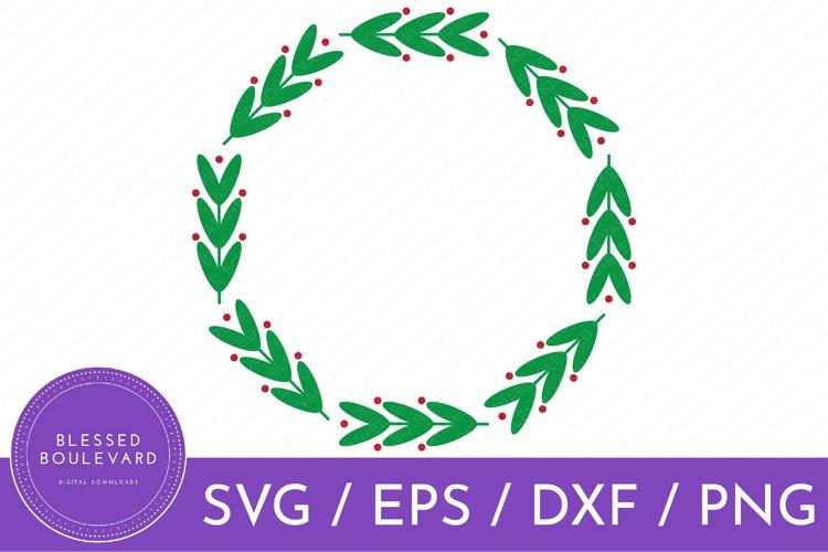Farmhouse Wreath SVG | Christmas Wreath SVG | Decorative SVG