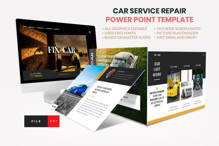 Car Repair Service Power Point Template