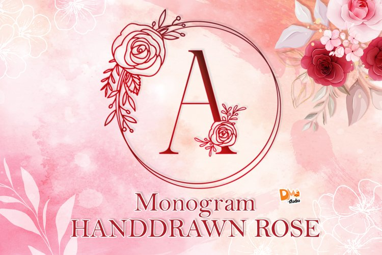 Monogram Handdrawn Rose Font