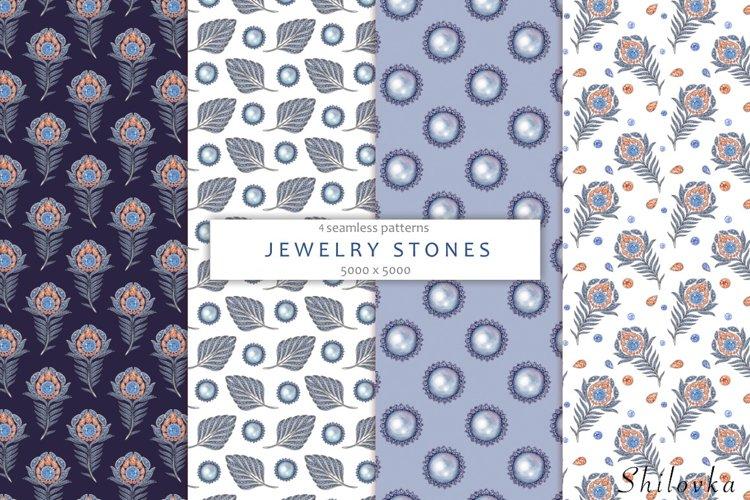 Jewelry stones. Watercolor
