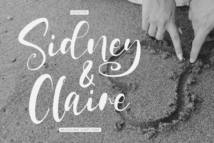 Sidney & Claire | An Elegant Script Font example image 1