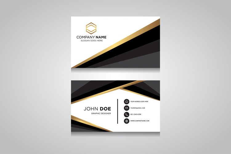 Creative and Clean Vector Business Card Template example image 1