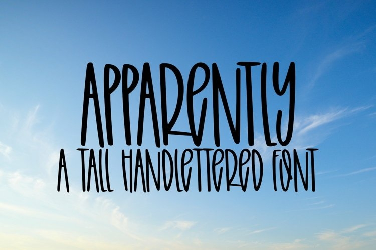 Web Font Apparently - A Tall Hand-Lettered Font example image 1