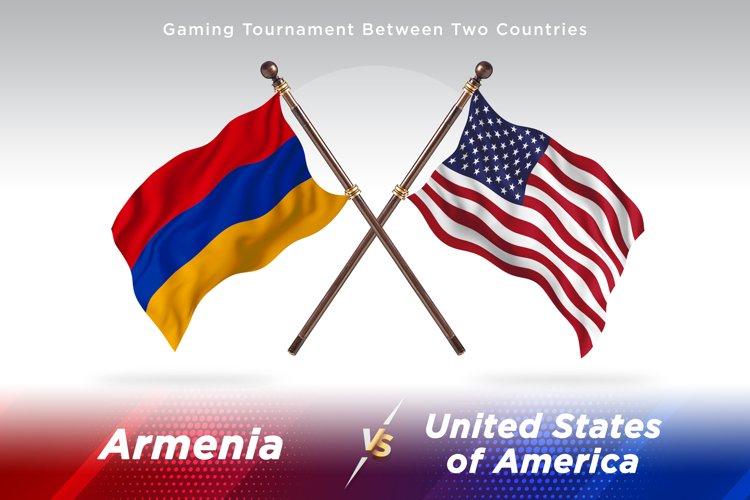 Algeria versus Armenia vs United States of America Two Flags example image 1