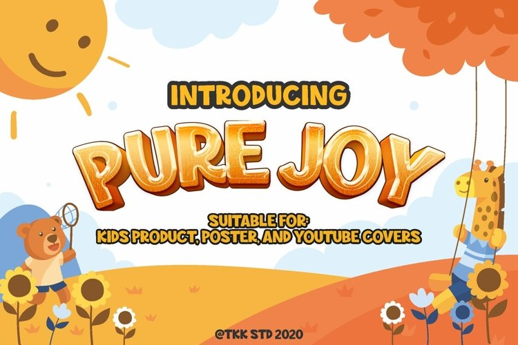Pure Joy - All Caps Funny Gaming Font example image 1