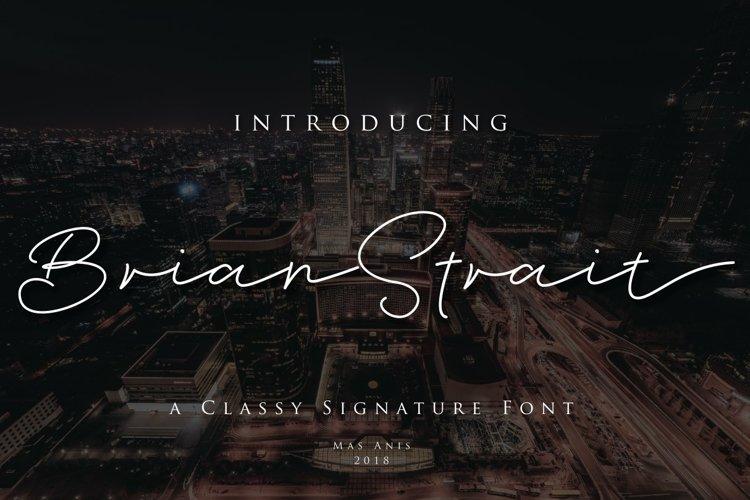 Brian Strait - Signature Font example image 1