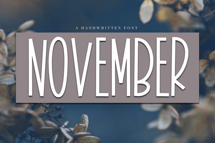 November - A Tall Handwritten Font - Free Font of The Week Font