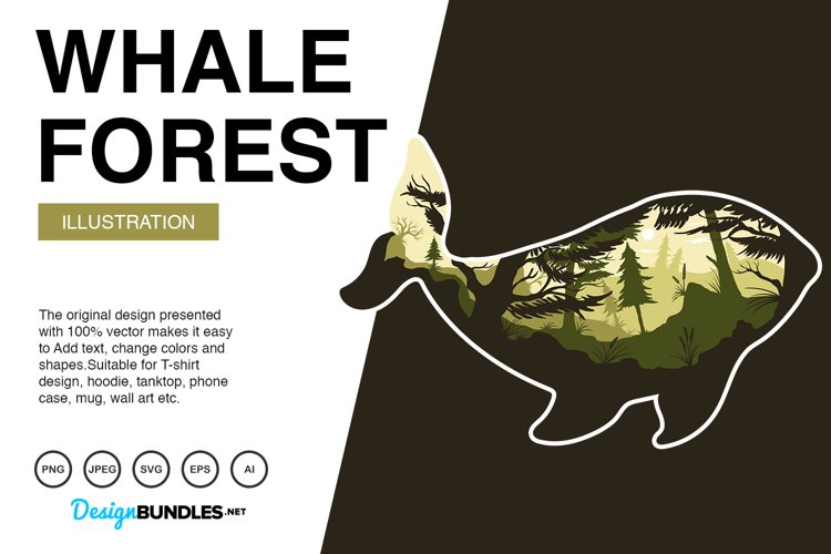Whale Forest Illustrations