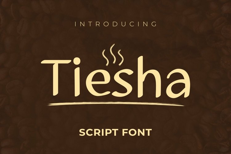 Web Font Tiesha Font example image 1