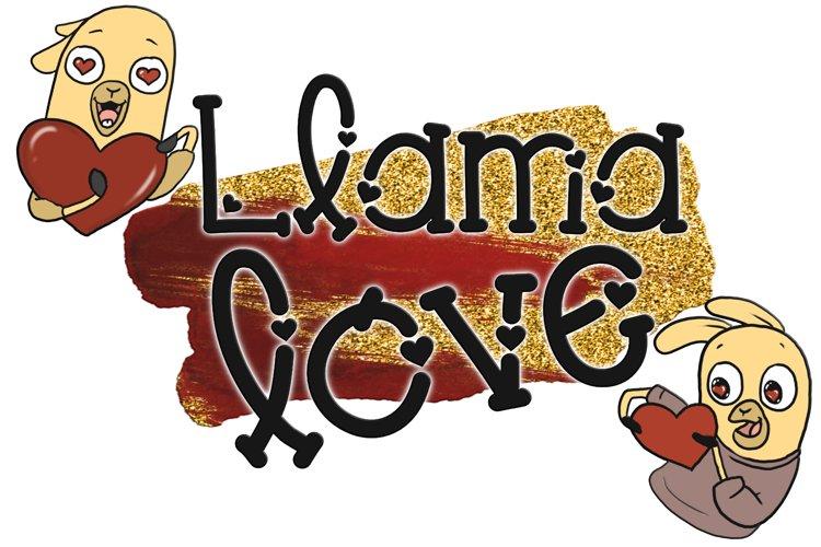 Llama Love Font