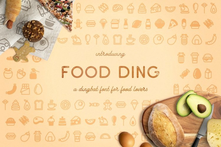 Web Font Food Ding example image 1