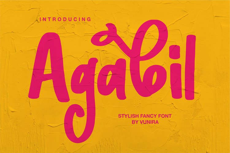 Agabil | Stylish Fancy Font