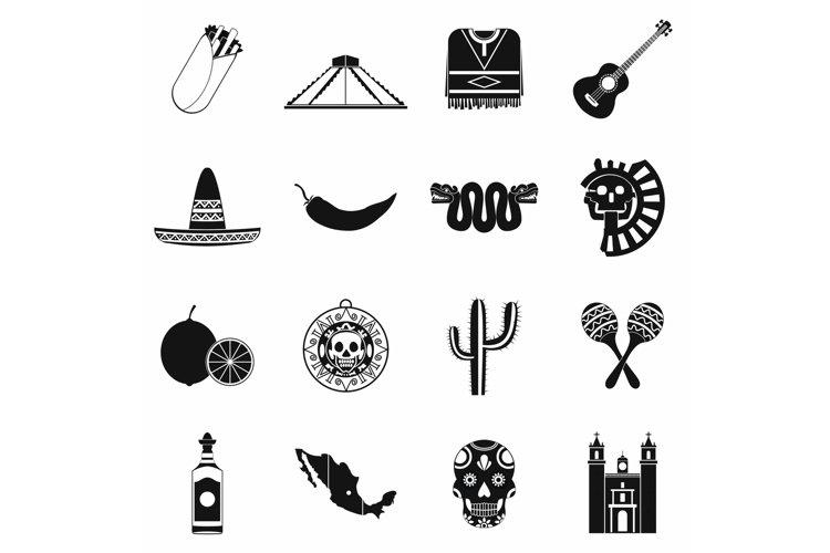 Mexico icons black example image 1