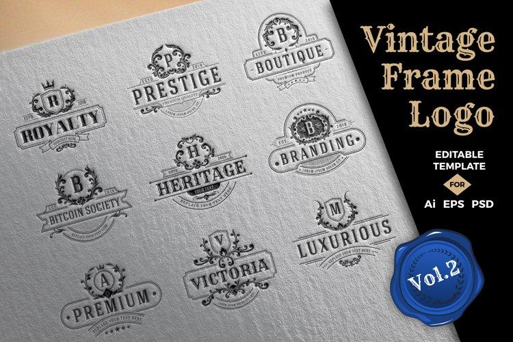 Vintage Frame Logo Template Vol.2