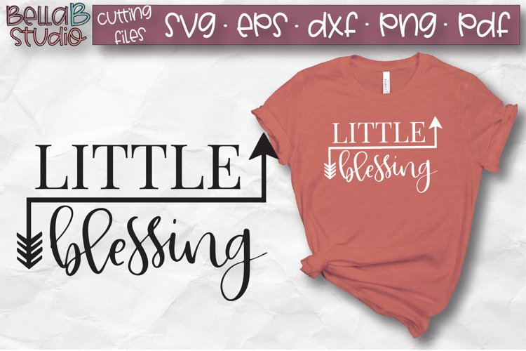 Little Blessing SVG, Arrows, Blessed, Fall SVG, Autumn SVG example image 1