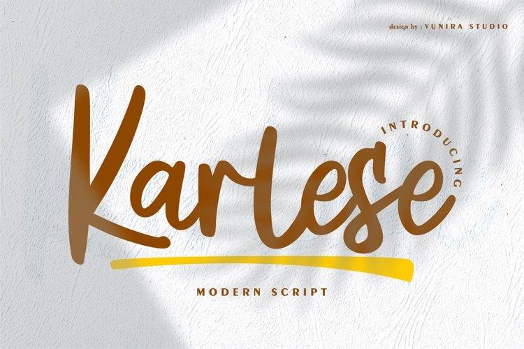 Karlese | Modern Script example image 1