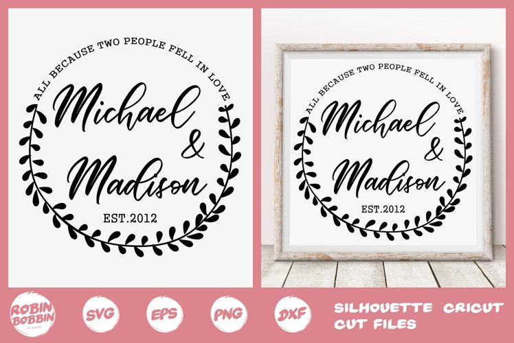 Family SVG, Newlyweds SVG, In Love svg, Personalized Family