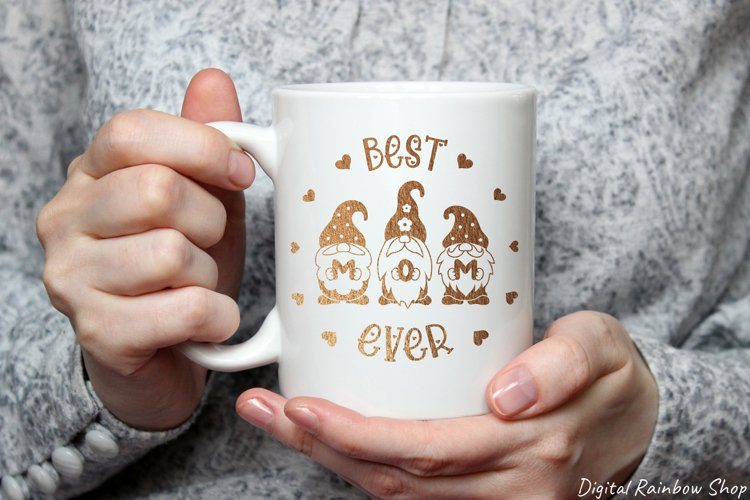 Mothers day svg, Mom SVG, Gnome Mom, best mom ever, gnomes example 1