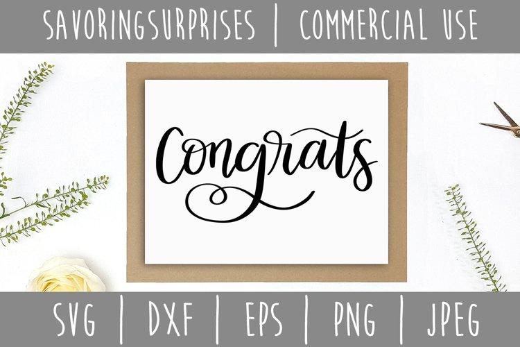 Congrats SVG, DXF, EPS, PNG, JPEG