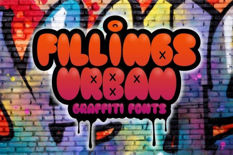 Fillings Urban - Graffiti Fonts example image 1