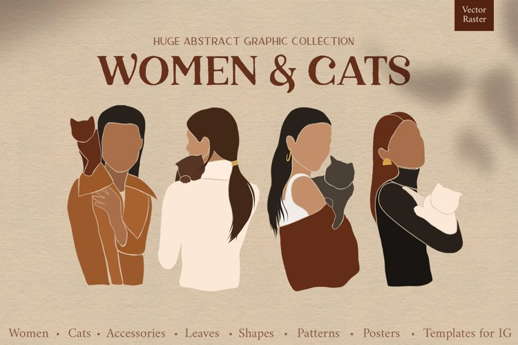 Women & cats. Abstract collection example image 1