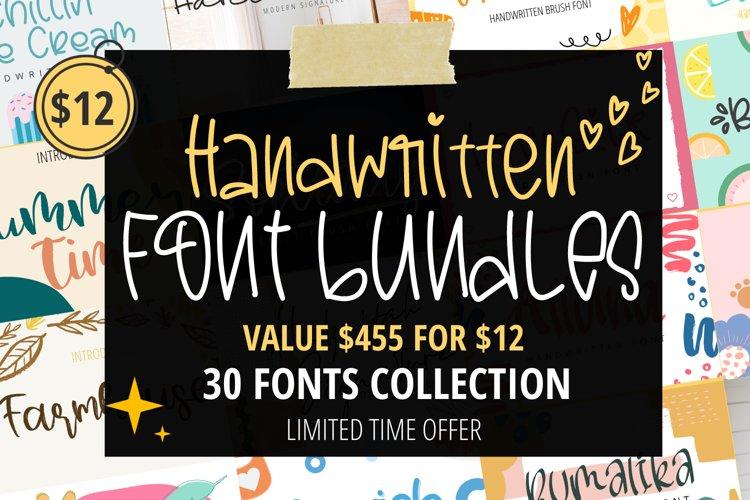 Handwritten Font Bundles - Amazing font bundle for craft example image 1