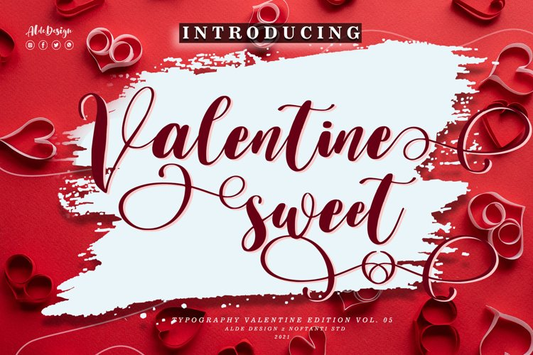 Valentine Sweet - WEB FONT example image 1