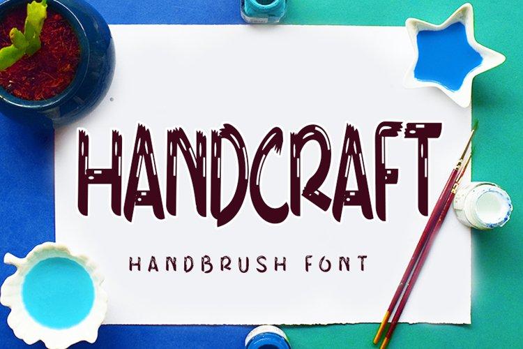Handcraft - Modern Brush Font example image 1