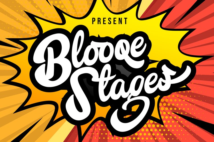 Blooqe Stages   Bold Script Font example image 1
